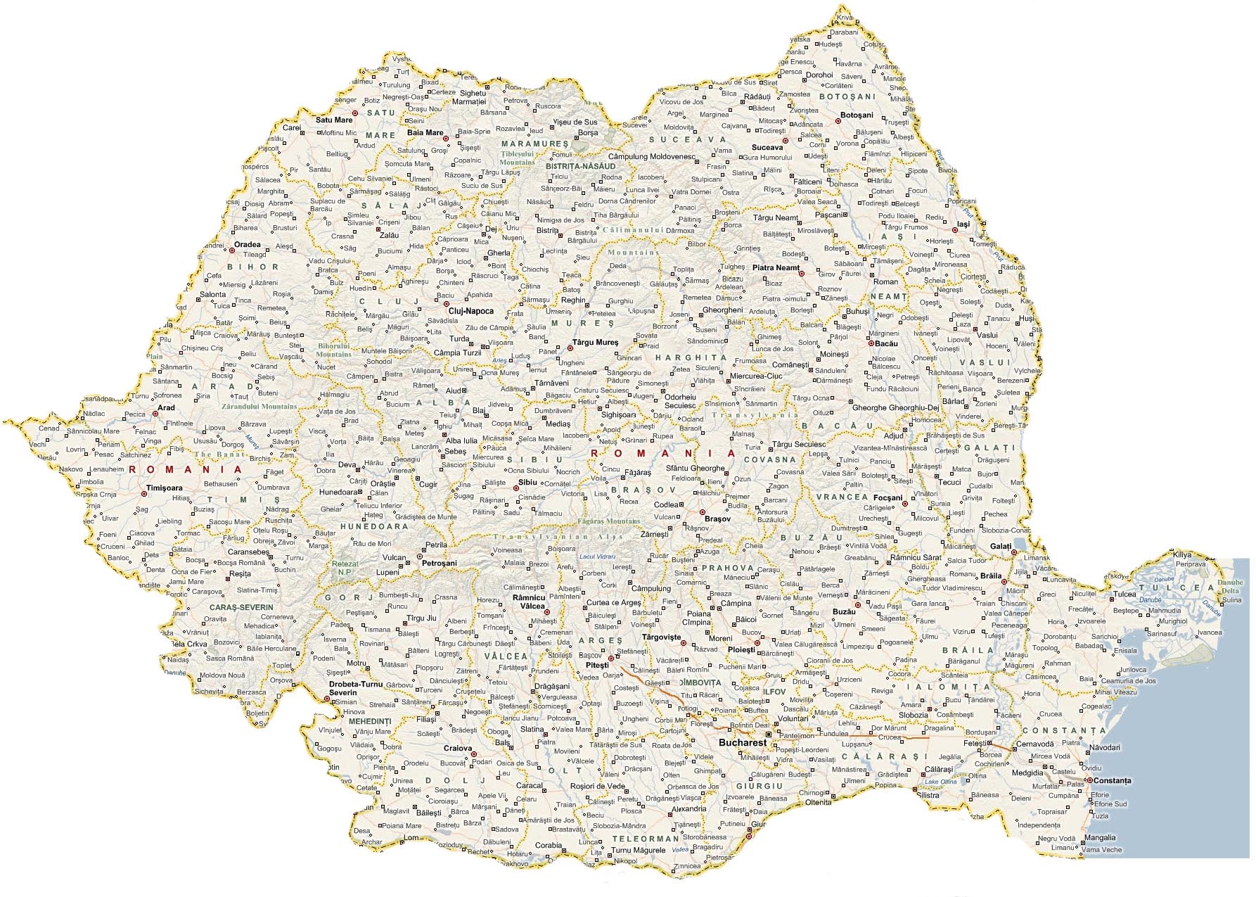 Cities And Villages In Romania Harti Wansait Com