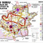 Judetul Sibiu - harta demografica si economica