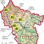 Judetul Buzau - harta taberelor scolare