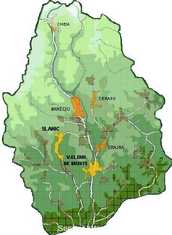 Harta Turistica Valea Teleajenului Valenii De Munte Slanic