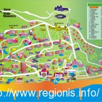 Harta statiunii Nisipurile de Aur din Bulgaria / The Golden Sands Travel Map